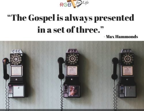"""The Gospel is always presented in a set of three."""