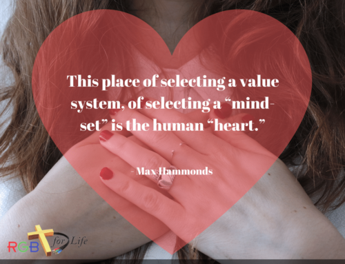 "This place of selecting a value system, of selecting a ""mind-set"" is the human ""heart."""