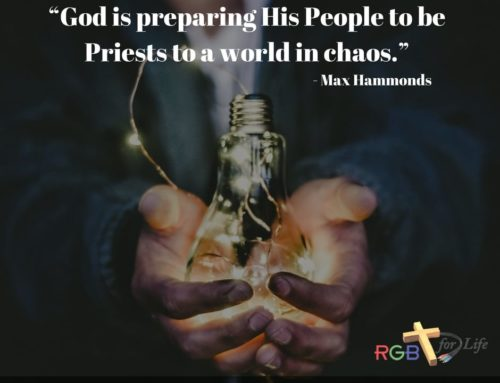 """""""God is preparing His People to be Priests to a world in chaos."""""""