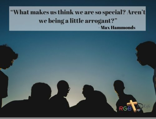 """""""What makes us think we are so special? Aren't we being a little arrogant?"""""""