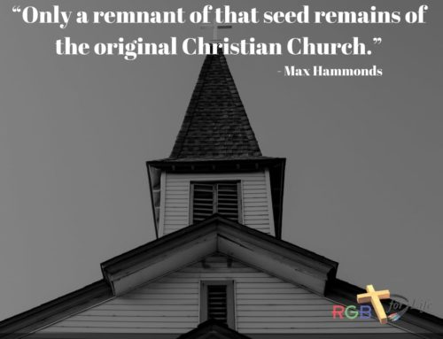 """""""Only a remnant of that seed remains of the original Christian Church."""""""