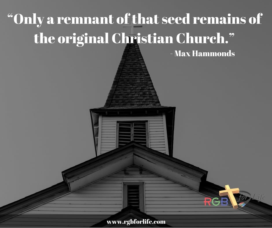 "RGB4life - ""Only a remnant of that seed remains of the original Christian Church."""