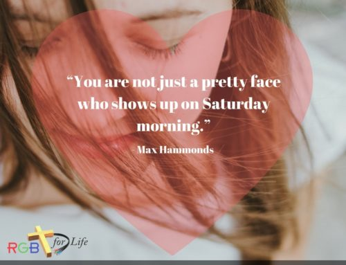 """You are not just a pretty face who shows up on Saturday morning."""