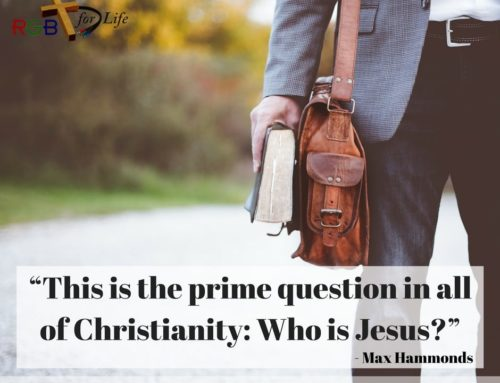 """This is the prime question in all of Christianity: Who is Jesus?"""