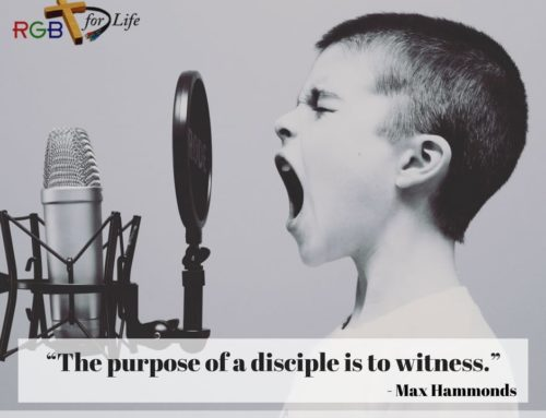 """""""The purpose of a disciple is to witness."""""""